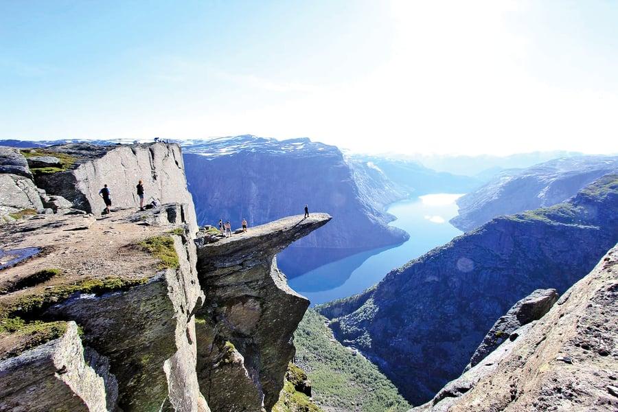 挪威超人氣的三大奇石