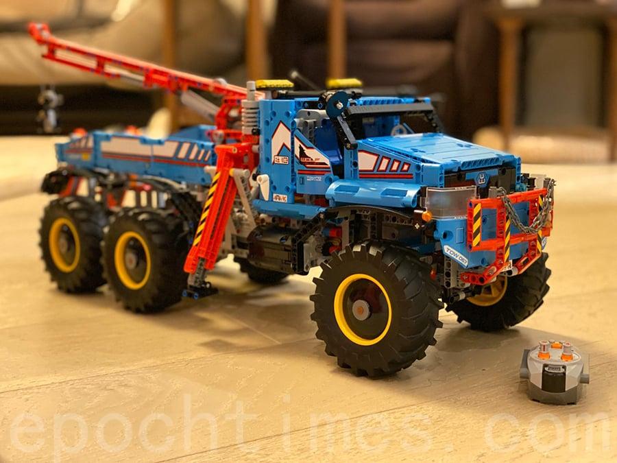 Lok砌的LEGO越野車。(受訪者提供)