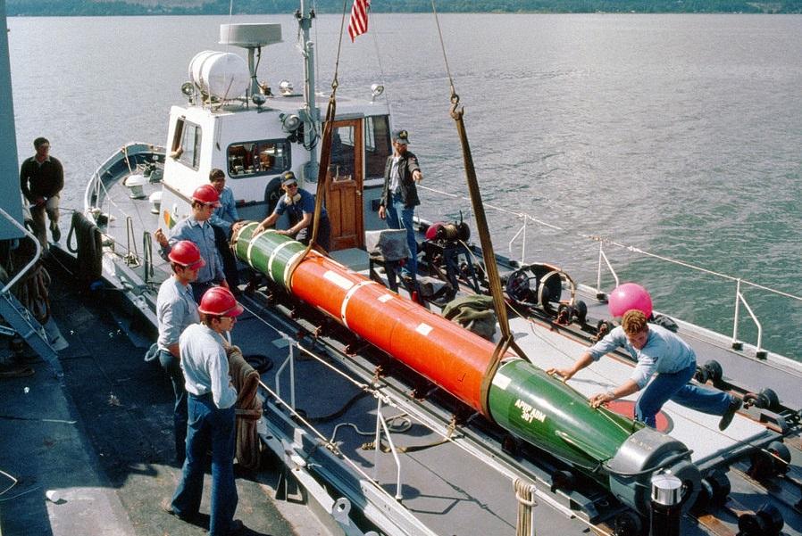 美軍MK-48重型魚雷資料照。(圖:公有領域)