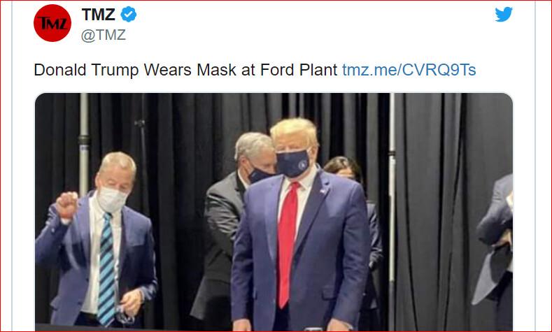 全球獨此一款 特朗普口罩樣式曝光
