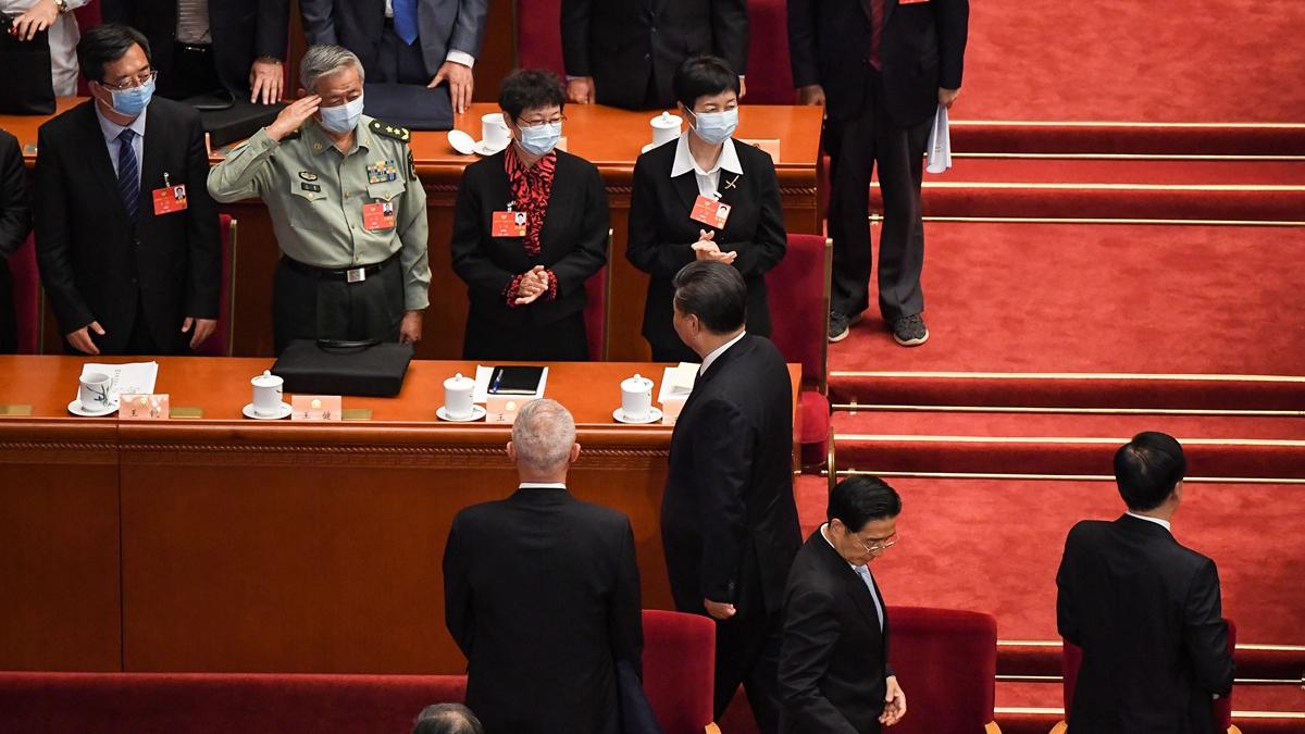 正在北京召開的兩會上,再爆出反習信,中共前青海政協委員王瑞琴實名要求人大罷免習近平。(LEO RAMIREZ/AFP via Getty Images)