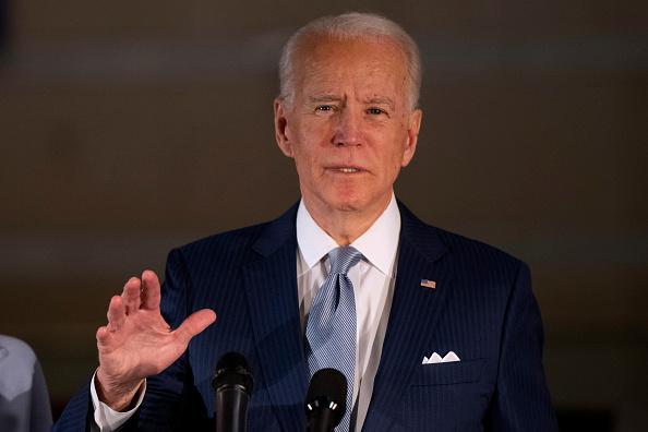 美國民主黨總統候選人,前副總統拜登認為,美國應推動全球就香港問題譴責中國。圖為民主黨總統候選人拜登。 (Mark Makela/Getty Images)