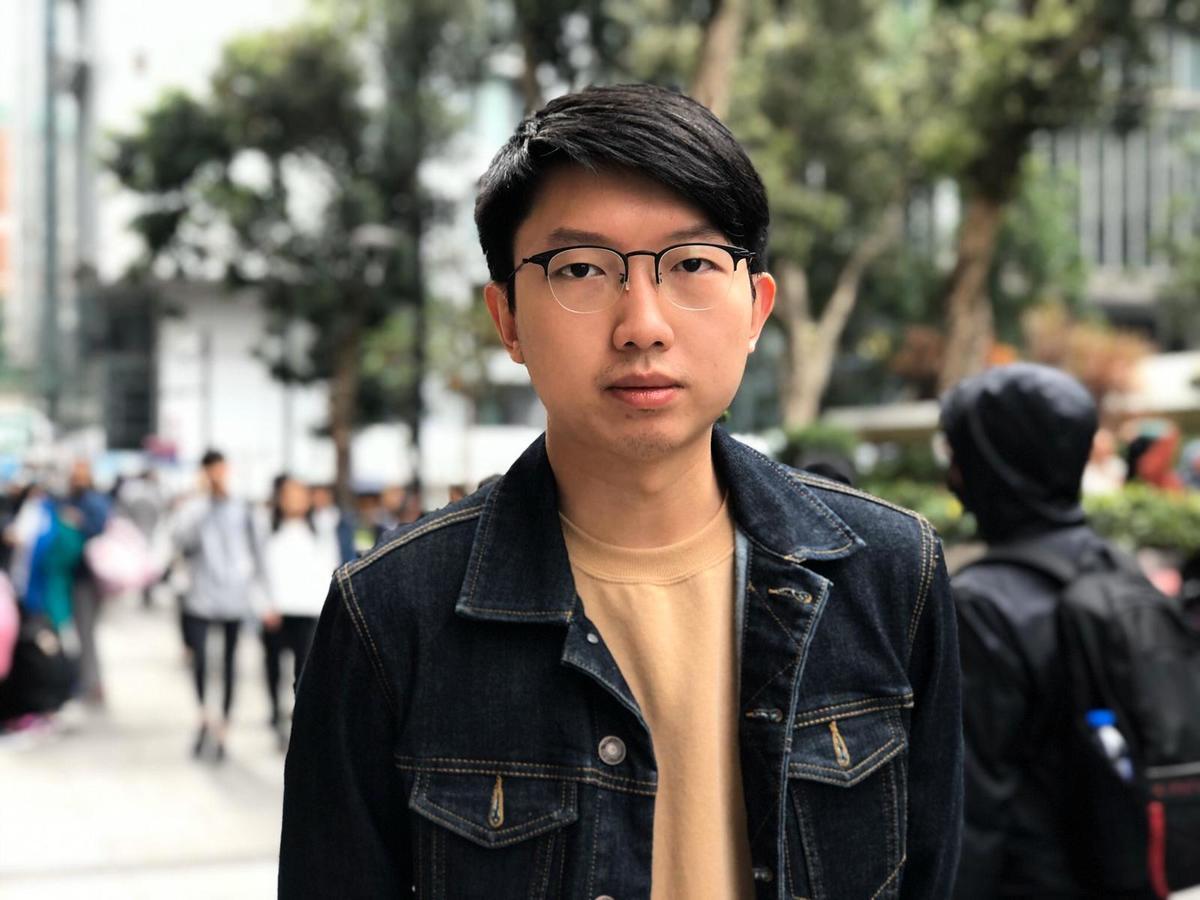 香港大專事務國際代表團前發言人張崑陽。(梁珍/大紀元)