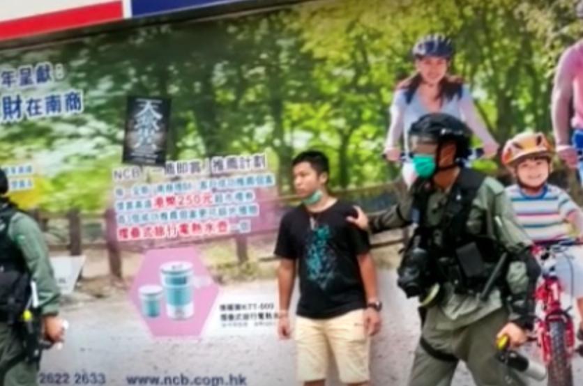 【5.24銅鑼灣遊行】灣仔站A3出口 下午有年輕人被捕