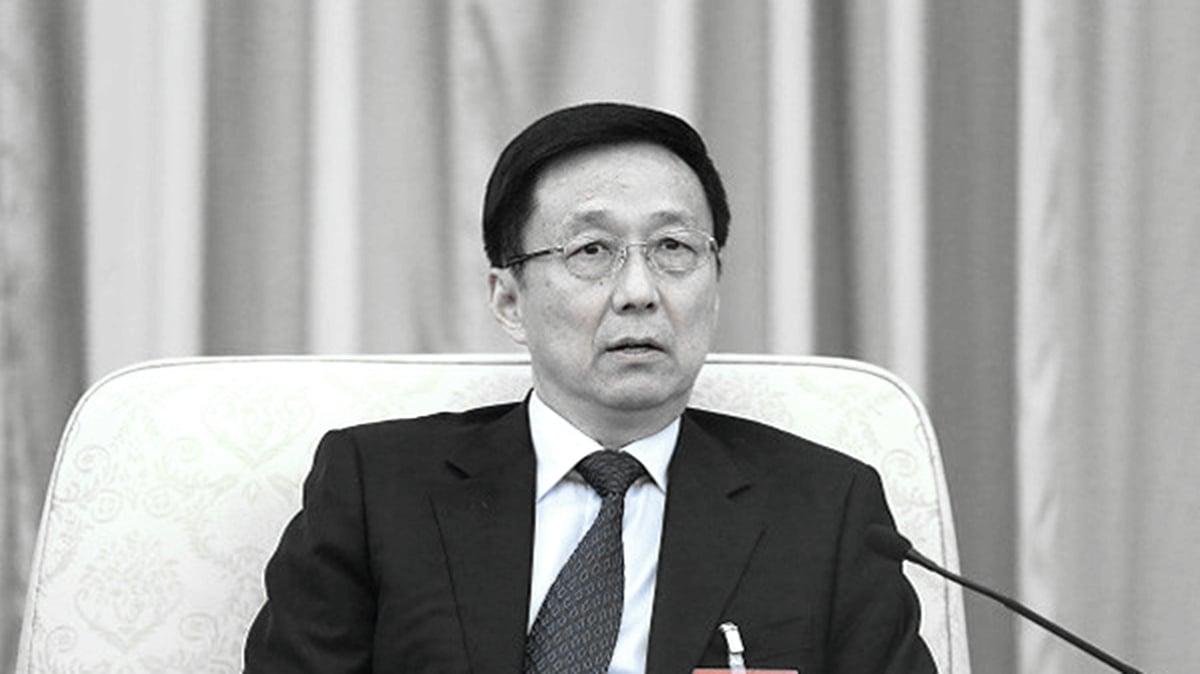 熟悉北京高層內幕的前中共官員透露,這次人大訂立港版國安法,由中央港澳工作領導小組直接協調。圖為主管港澳事務的中共國務院副總理韓正。(Lintao Zhang/Getty Images)