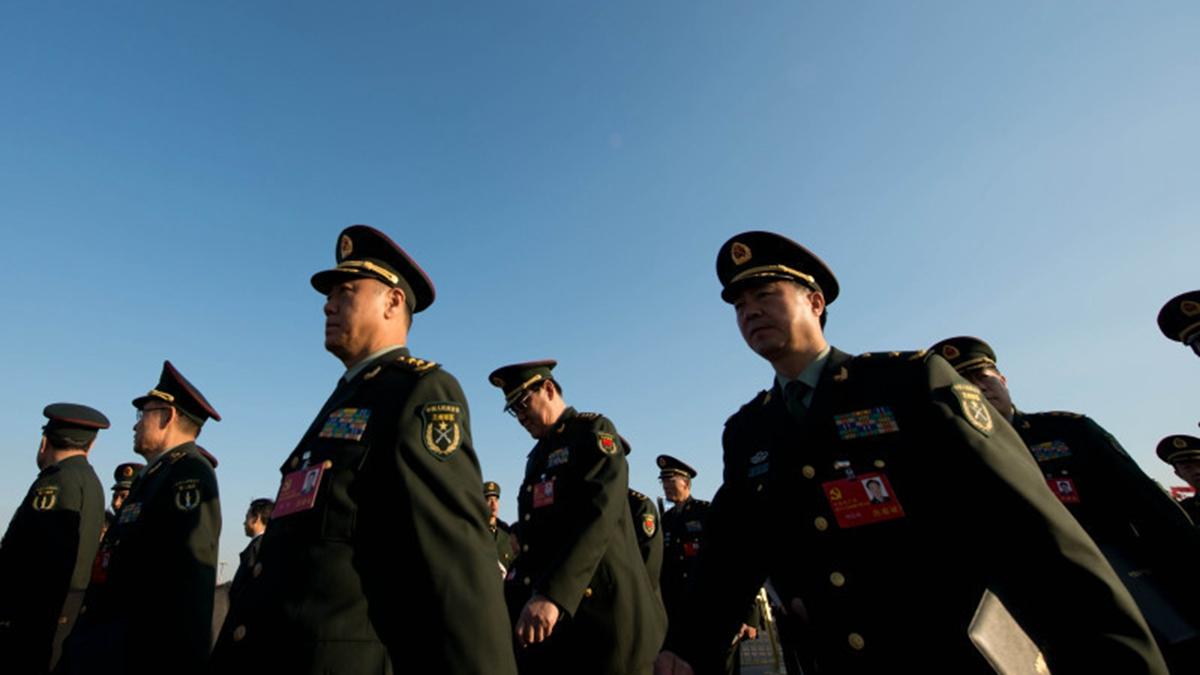 被視為習近平軍中鐵桿的中央軍委副主席張又俠,在兩會上放言要肅清「軍老虎」流毒。示意圖( Ed Jones/AFP/Getty Images)