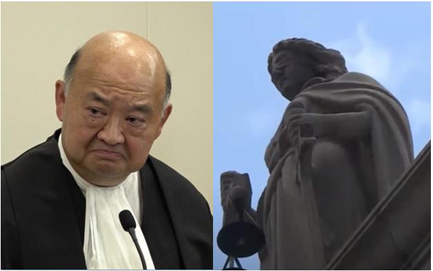 終審法院首席法官馬道立今日(5月25日)發表聲明,表示「法官及司法人員絕對不可偏頗」,不應「公開發表不適當或無必要的政見」。(大紀元製圖)