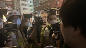 姜牧師車5.24晚旺角被警拖走
