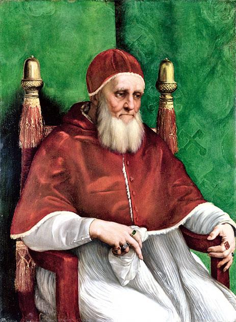 拉斐爾繪製的儒略二世畫像。(公有領域)