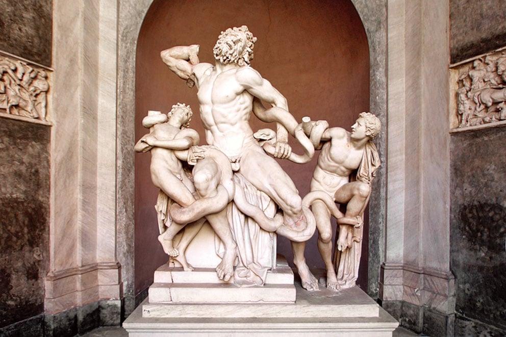 著名雕塑《勞孔群像》。(Shutterstock)