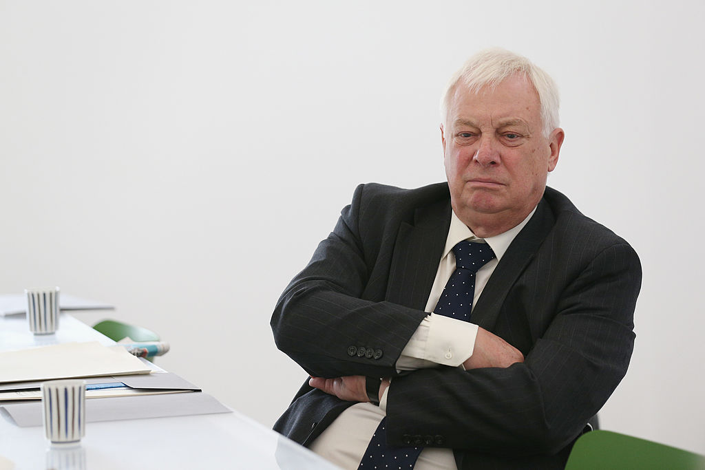 香港最後一任港督彭定康(Chris Patten)24日呼籲,英國應確保中共強推「港版國安法」一事列入6月份舉行的七國集團(G7)會議議程上。(Getty Images)
