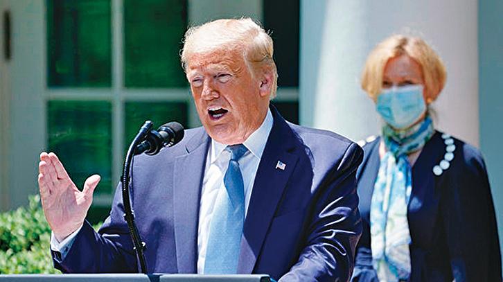 周一,美國總統推文表示,如果北卡州仍維持嚴格社交限制,原定8月召開的共和黨全國大會或另選址。(AFP)