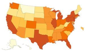 中共病毒在美國藍州疫情較重