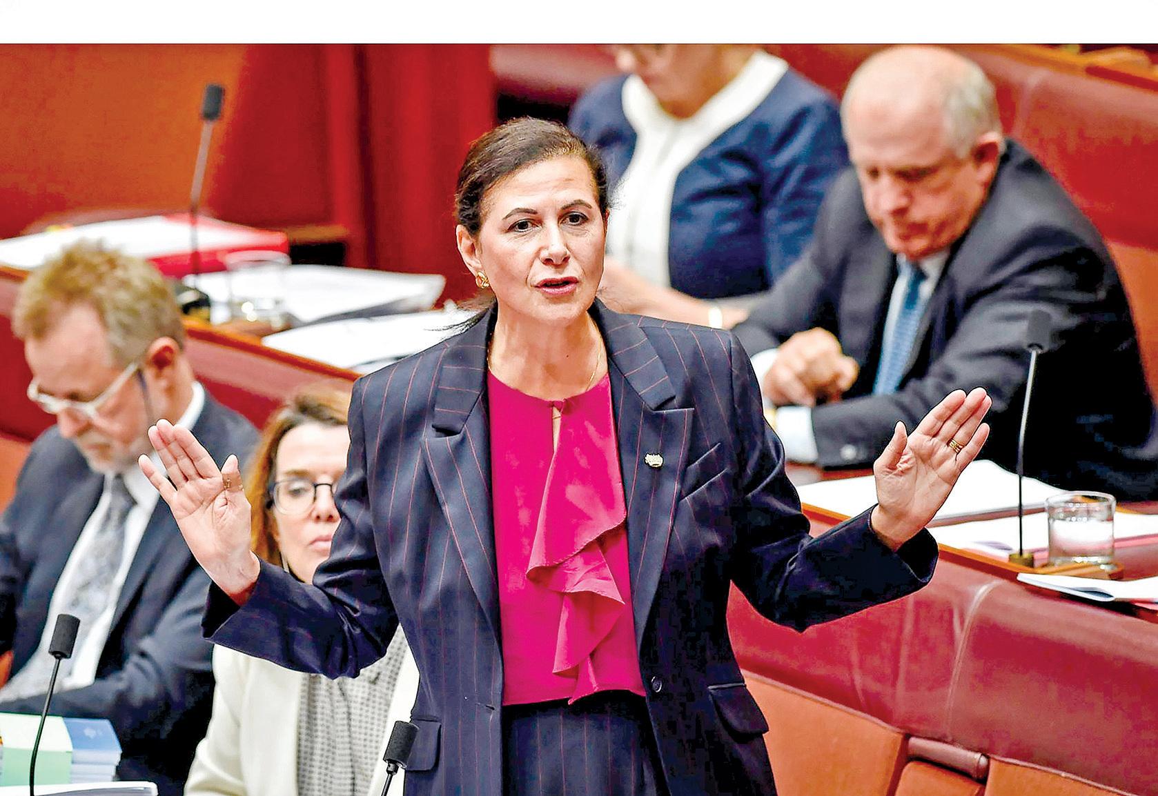 澳洲自由黨聯邦參議員Concetta Fierravanti-Wells表示,一旦大瘟疫結束,澳洲應考慮在貿易關係上與中共政權「脫鉤」。(Concetta Fierravanti-Wells臉書)