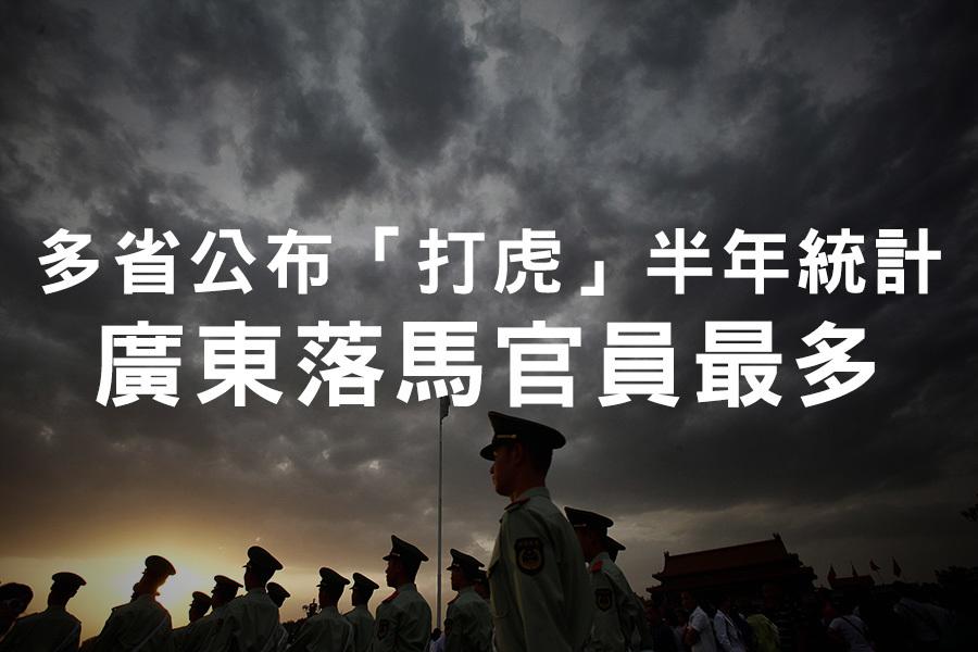 近期,中紀委網站密集通報大陸各省份上半年的反腐數據,其中廣東被查處的官員最多,其次是遼寧。