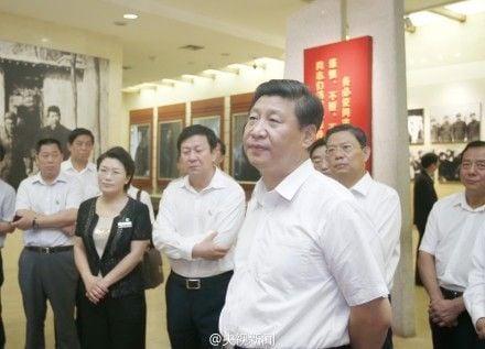 2013年7月11日,習近平到平山縣西柏坡參觀。(網絡圖片)