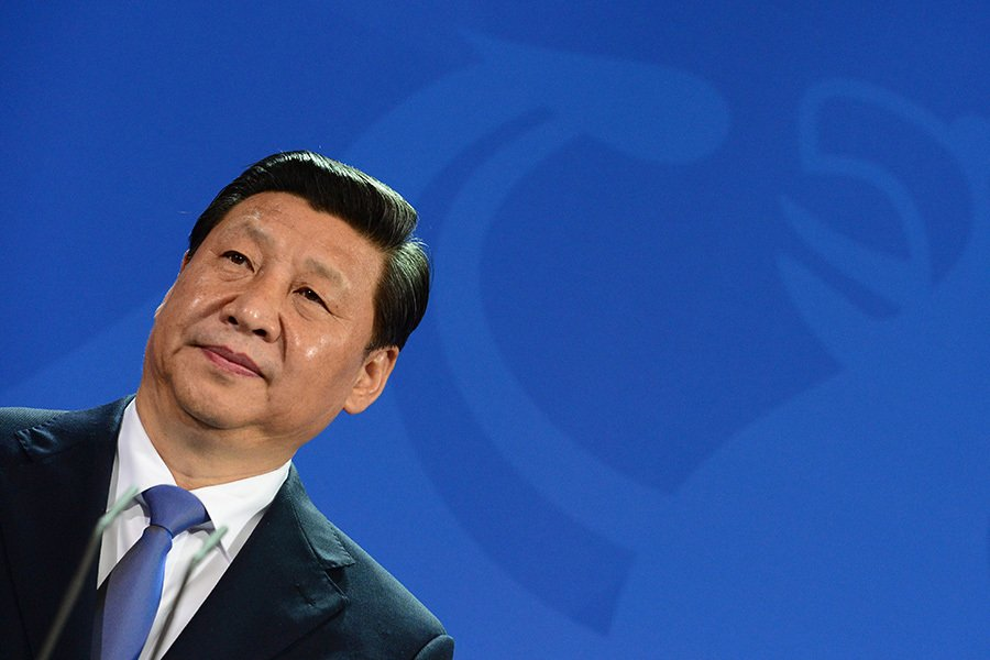 8月15日,中共中央黨校旗下微信公眾號發文援引習近平的話稱,問責不能有憐憫之心,要「較真」。8月11日以來官媒連日放重話引外界關注。(JOHN MACDOUGALL/AFP/Getty Images)