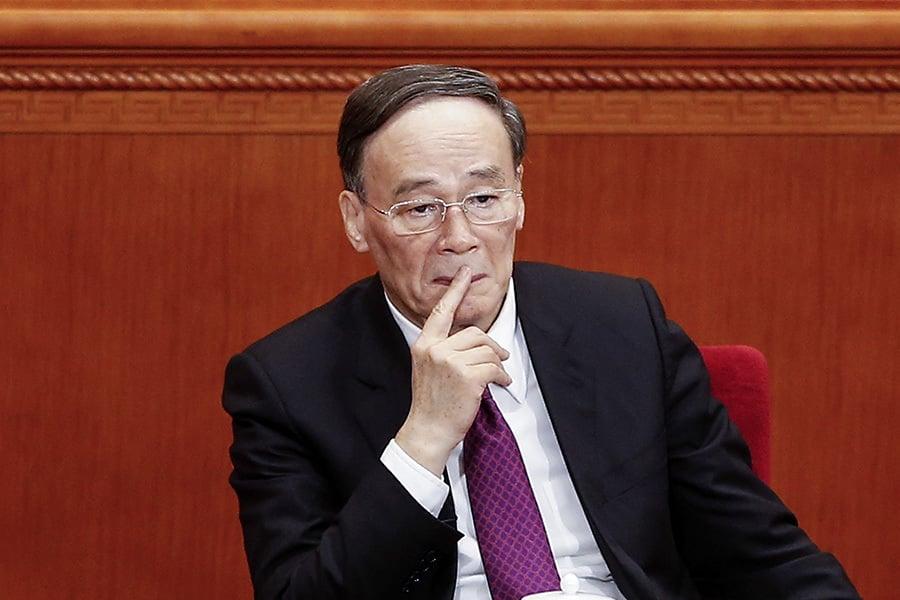69歲的王岐山在去年「十九大」上卸任,去向一直備受關注。(Lintao Zhang/Getty Images)
