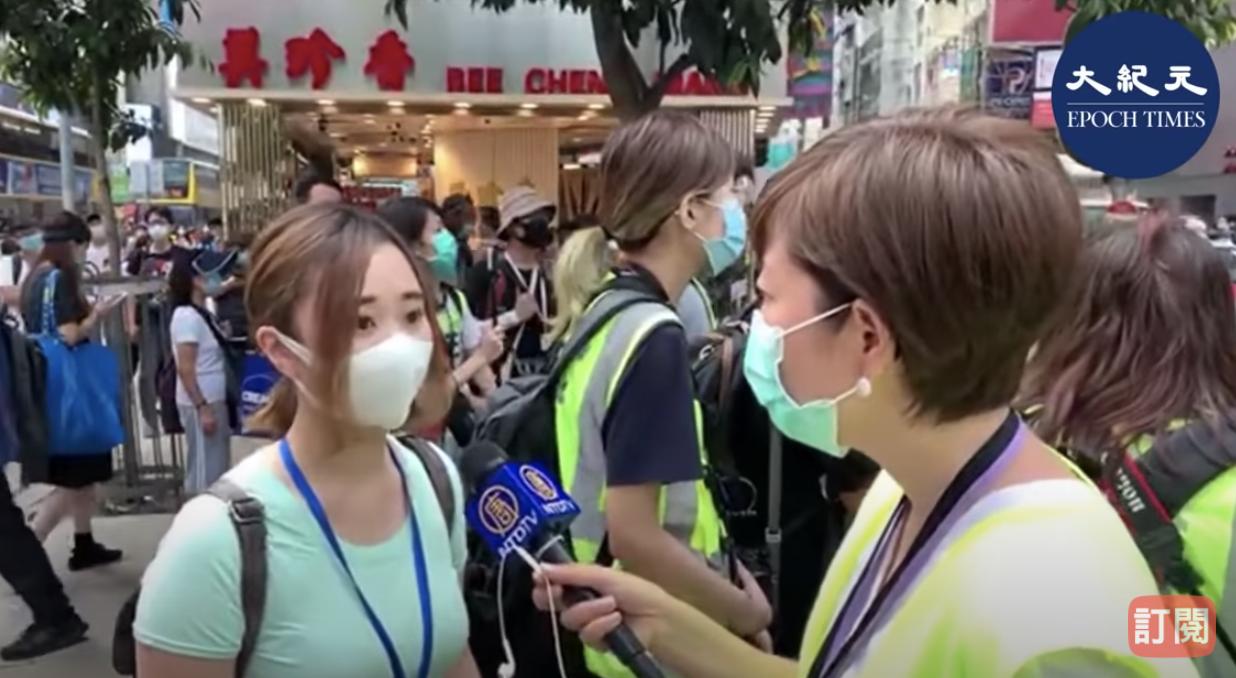 5.27南區議員袁嘉蔚接受大紀元記者採訪。(梁珍/大紀元)