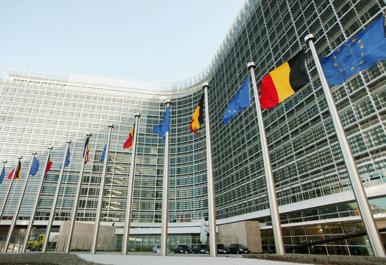 圖為位於比利時布魯塞爾的歐盟總部大樓。(Getty Images)