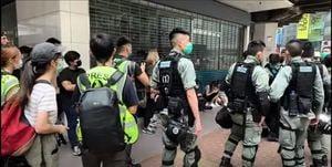 「國歌法」二讀闖關 港警滿城出重兵 抓捕300名抗爭者 最小年齡14歲