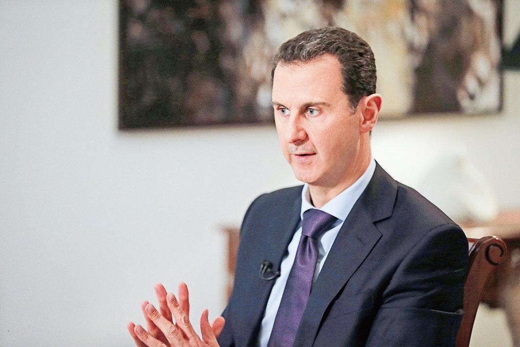 敘利亞總統阿塞德(圖)正面臨內戰9年來最大挑戰。(AFP)