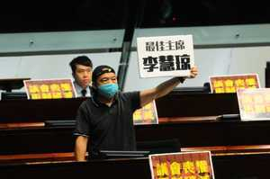 【更新】立法會二讀國歌法:「最佳主席李慧琼」被稱「反諷」梁君彥懂讀心術?