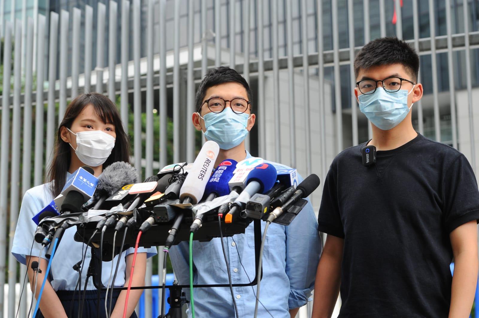 香港眾志予以回應表示,中共強推國安法針對的是民間團體的國際連線,眾志促中共趕緊懸崖勒馬,美國總統特朗普將很快做出決定。(宋碧龍 / 大紀元)