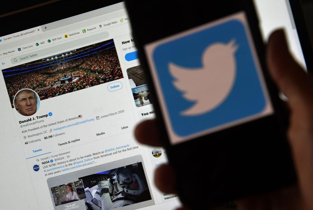 美國總統特朗普警告要對社交媒體平台採取行動。(Getty Images)