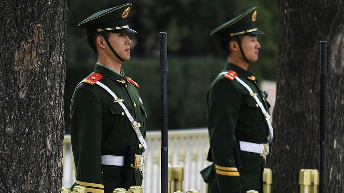 中共兩會召開之際,負責中南海保衛工作的中央警衛局成為網絡熱議的話題。(GREG BAKER/AFP via Getty Images)