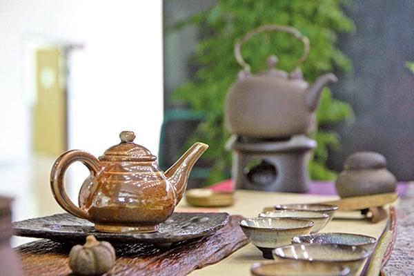 高溫柴燒的茶具(許享富 /大紀元)