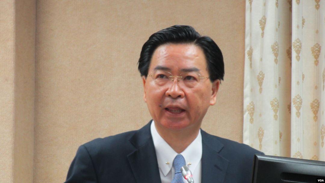 台灣外長吳釗燮。(VOA圖片)