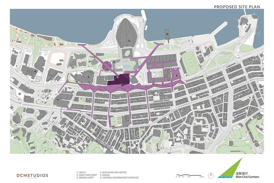 「連繫灣仔」設計團隊建議在灣仔區內建設嶄新大型的公共空間。(公關提供)