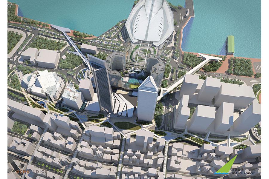 嶄新公共空間概念鳥瞰圖。(公關提供)