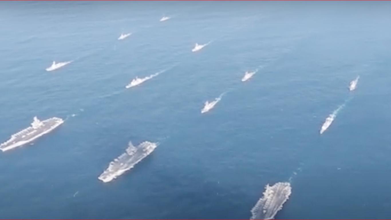 美軍第七艦隊。(影片截圖)