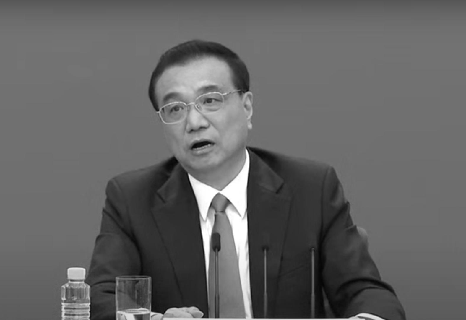 李克強在記者會上談到中國有六億人每月收入一千元人民幣。(視頻截圖)