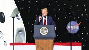 飛船成功載人上太空  特朗普發表演講