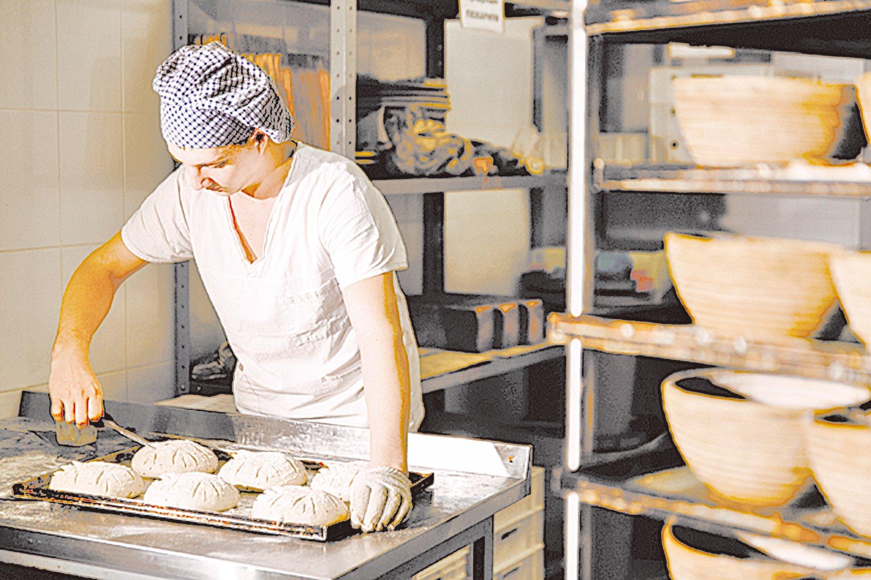 傳統的麵包只使用很簡單的材料製作,發酵的過程也比現在長。