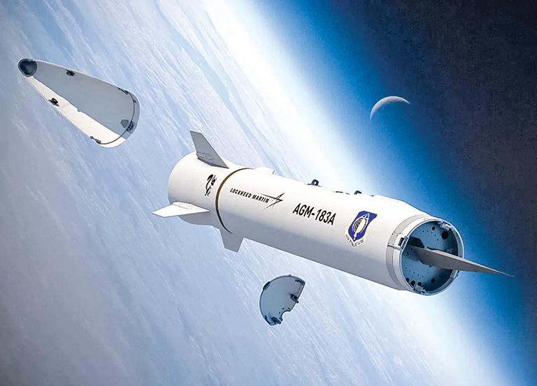 洛克希德·馬丁公司開發的AGM-183A高超音速導彈。(Lockheed Martin)