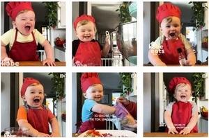 好萌啊! 美國一歲「廚師」吸引150萬粉絲追蹤