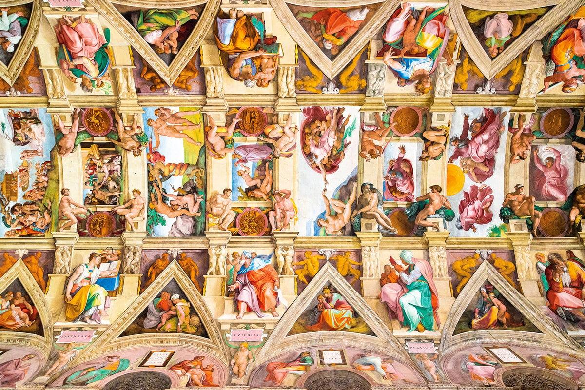 西斯汀禮拜堂的《創世紀》。(Shutterstock)