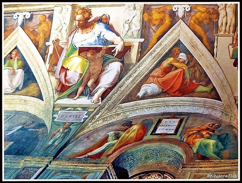 西斯汀禮拜堂的天棚壁畫人物。(Giovanni Dore/Wikimedia Commons)
