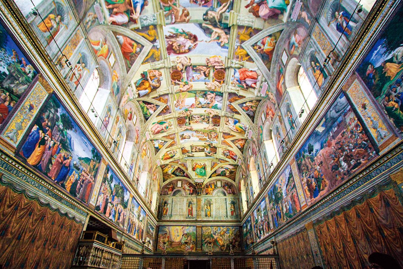 西斯汀禮拜堂的壁畫。(Shutterstock)
