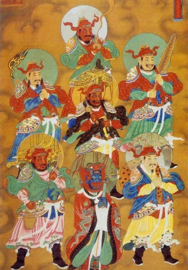 明代萬曆水陸畫,瘟神。(局部)(圖片來源:公用領域 BBS圖片)
