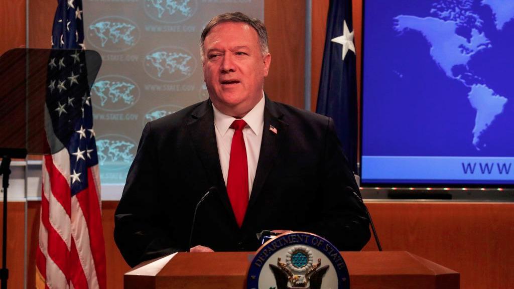 美國國務卿蓬佩奧5月31日表示,中共在進行虛假宣傳活動方面「變得更加積極」,目的是「轉移視線」。(LEAH MILLIS/POOL/AFP via Getty Images)