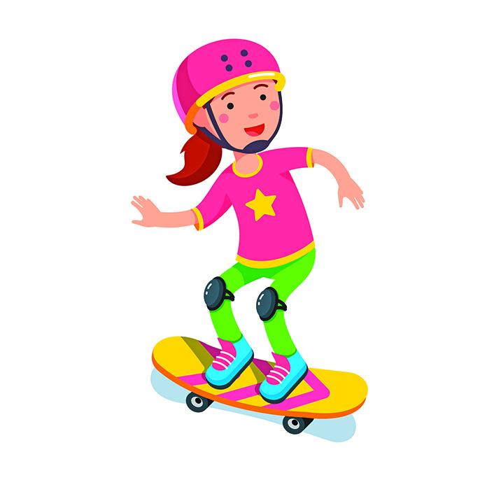 童詩:媽媽教我溜滑板