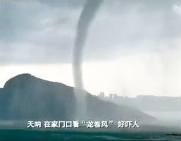 【圖片新聞】東莞雨天現龍吸水 一小時閃電7,999次