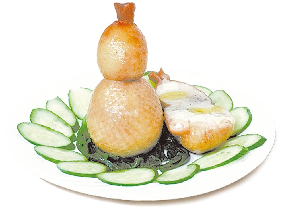 八寶葫蘆鴨是清宮廷的美味御膳。圖為袖珍版的八寶葫蘆鴨。