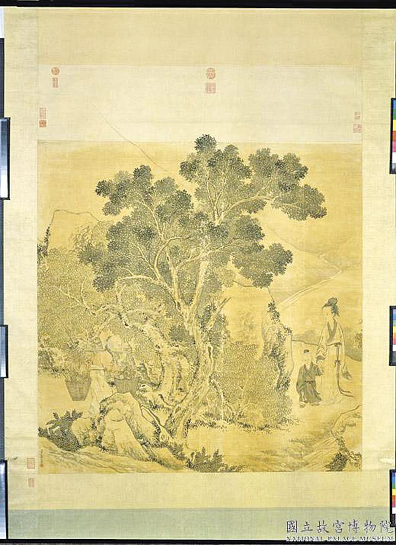 清‧金廷標《孟母移居》(台北 故宮博物院提供)