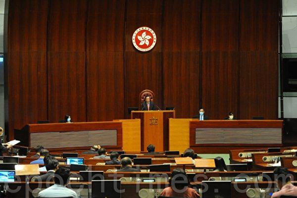 2020年05月27日,香港立法會「國歌法」二讀。(宋碧龍/大紀元)